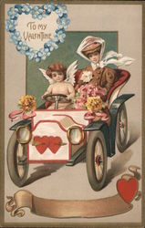 To My Valentine - Cupid Driving a Woman in a Car