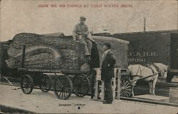 How We Do Things at Cold Water, Mich. -- Giant Summer Squash Postcard