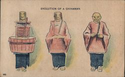 Evolution of a Chinaman: Washtub to Chinaman Postcard