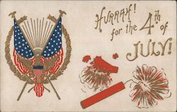 Hurrah! for the 4th of July! Postcard