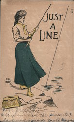 Just a Line -- Woman Fishing