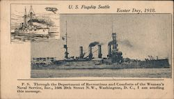 U.S. Flagship Seattle Easter Day, 1918.