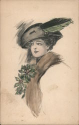 Drawing of Woman in Hat