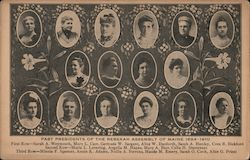 Past Presidents of the Rebekah Assembly of Maine 1894-1910 Postcard