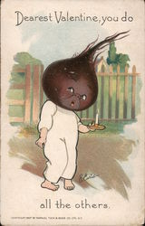 "Dearest Valentine, you do ""beet"" all the others -- Child with a beet head"