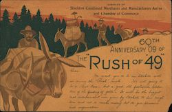 60th Anniversary 1909 of the Gold Rush of 1849