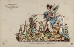 Float -- Crowning of Beethoven -- Hudson-Fulton Official Post Card No. 66
