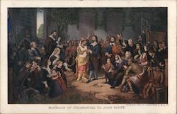 Marriage of Pocahontas to John Rolfe -- Jamestown Exposition 1907