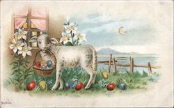 Easter Lamb and Lillies