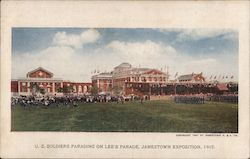 US Soldiers Parading on Lee's Parade - Jamestown Exposition 1907