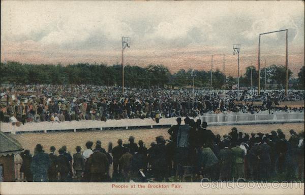 People at the Brockton Fair Massachusetts