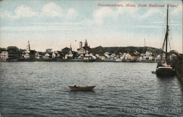 Provincetown from Railroad Wharf Massachusetts
