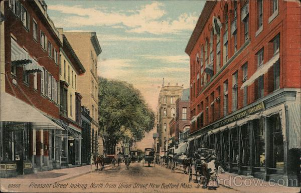 Pleasant Street looking North from Union Street New Bedford Massachusetts