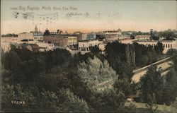 Birds Eye View of Big Rapids Postcard