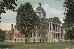 Genesee County Court House Postcard