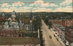 Bird's Eye View of Courthouse and West Main Street Postcard