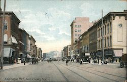 Main Street looking East Postcard