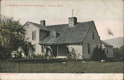 Late Home of Susan B Anthony Postcard