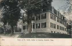 Home of Dr. Smith, Author of America Postcard