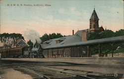 B.& M. Rail Road Station Postcard