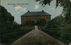 Main Entrance, State Normal School Postcard
