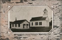 Schoolhouse and Church, Middletown Postcard