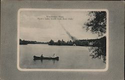 Mystic Lake South From Boat Club Postcard