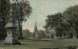 Taunton Green View looking West Postcard