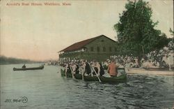 Arnold's Boat House Postcard