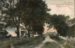 Street Scene Rock Harbor Postcard