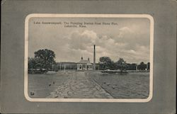 Lake Assawompsett, The Pumping Station From Stone Pier Postcard