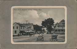 Main Street - Business Section Postcard