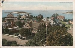 Looking South From Tower of the Oceanside Postcard
