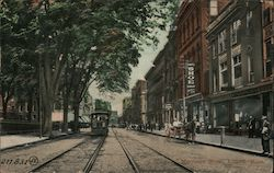 Merrimac Street Showing Trolley Line