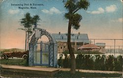 Swimming Pool & Entrance Postcard