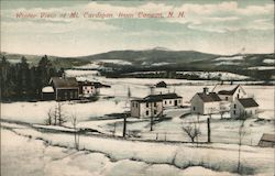Winter View of Mt. Cardigan From Canaan Postcard