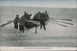 Launching the Lifeboat Postcard