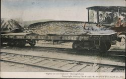 Sights on Our Travels Through Here - Boston & Maine RR Car With Huge Fish Postcard