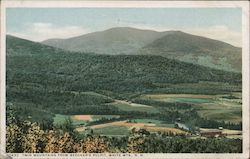Twin Mountains From Beecher's Pulpit Postcard