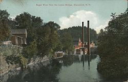 Sugar River From the Lower Bridge Postcard