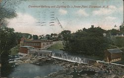 Claremont Railway and Lighting Co.'s Power Plant Postcard