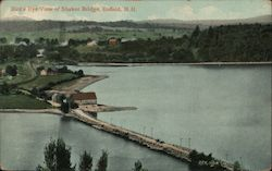 Bird's Eye View of Shaker Bridge Postcard