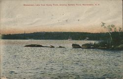 Massabesic Lake from Rocky Point, showing Battery Point