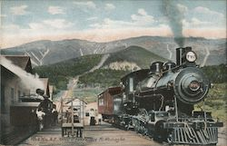 Arrival of Trains at Base of Mt. Washington