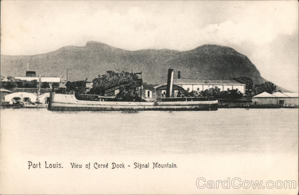 Port Louis. View of Cerne Dock - Signal Mountain Mauritius