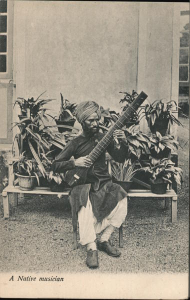 A native musician with sitar India
