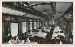 Interior dining saloon on the Cape Government Railway Express Train