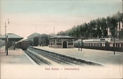 Park Station, Showing Railway Tracks And Buildings Postcard
