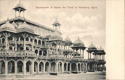 Mausoleum of Akber the Great at Sikandra, Agra Postcard