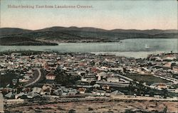 Town Looking East from Landsdowne Crescent, Tasmania